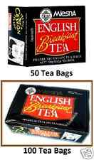 Mlesna English Breakfast Tea 50 & 100 Tea Bags boxes  - Ceylon Tea