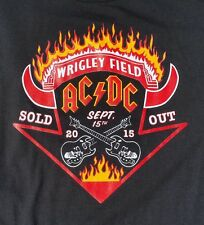 New ACDC Wrigley Field Concert T Shirt Rock Or Bust 2015 Sold Out Chicago
