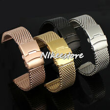 New 22 24 mm Stainless Steel Mesh Watch Mesh Band Diving Shark Replacement Strap