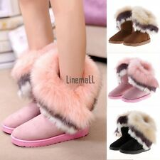 Fashion Women's Snow Boots Winter Warm Faux Fur Ankle Boots Casual Shoes LM