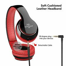 Sound Intone I80 Stereo HeadphonesStretch Headband with Mic and Detachable Cable