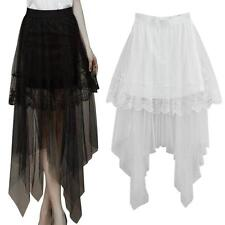Vogue Sexy Lace Skirts Womens Long Section Skirt Jupe Tulle Short Skirt Hotsell.