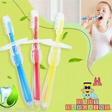 BABY TRAINING TOOTHBRUSH SET SAFE SOFT CHEWABLE TEETHING RELIEF
