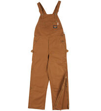 Rasco FR Flame Resistant Brown Duck Quilted Insulated Bib Overalls