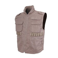 US Military Airsoft Desert Khaki Tan Tactical Hunting Hiking Ranger Vest & Hood