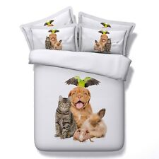 Dogs Quilt/Duvet/Doona Cover Set New Cotton Single/Queen Bed Size Pillow Cases