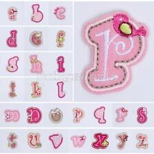 Flowers Letter Number Embroidered Applique Iron On Sew Patch Cute Kids Accessory