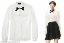 Jason Wu Target Long sleeve Blouse Cream Black Tie Work & Play sz Large L XL NEW
