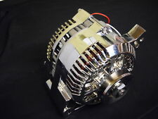 FORD STYLE CHROME ALTERNATORS  1 WIRE 100 AMP 3 G CASEING