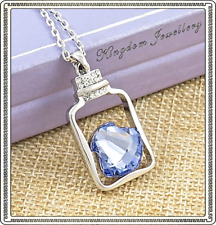 18K White Gold Plated Crystal Pendant Necklace made with Swarovski Crystals