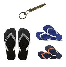 ORIGINAL HAVAIANAS KIDS BOYS SLIM FLIP FLOP BRASIL LOGO TOP MIX FREE KEY CHAIN