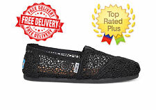 Authentic Toms Classic MOROCCO Crochet Women's Shoes Black-Silver-Navy-Natural