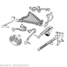 Wholesale Mixed Pendant Dull Silver Tone Music Shap Fashion Pendants