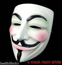 V for Vendetta Mask Costume Guy Fawkes Anonymous Prop Resin Cosplay Fancy Dress