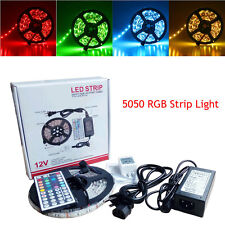 5050 RGB SMD 300LED Flexible Strip Light +IR Remote +Adapter Kit Non-Waterproof