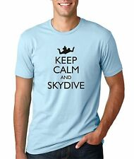 Mens Keep Calm and Skydive Funny T-Shirt Freefall Sports Skydiving Tee