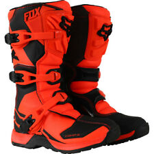 Fox Racing NEW 2017 Youth Mx Comp 5 Orange Black Motocross Dirt Bike Kids Boots