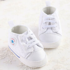 Baby Girls Shoes Soft Sole Infant Shoes Crib Canvas Shoes Newborn 6-18 Months