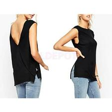 Fashion Women's Sexy Backless Sleeveless T-shirt Summer Casual Tank Tops Clothes