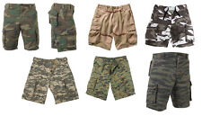 ACU City Tiger Stripe Desert Woodland Digital Camo Military Cargo Summer Shorts
