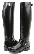 FAMMZ RAVEN Woman Ladies Motorcycle Highway Police Leather Tall Riding Boots