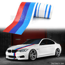 2M 3M 5.5M M-Colored Stripe Hood Sticker Decal For BMW M3 M5 X5 2/3/4/5/7 Series