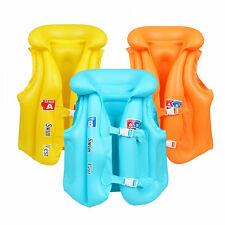 Kids Pool Beach Swimming Boating Wear Life Jacket Vest Float Inflatable Safety