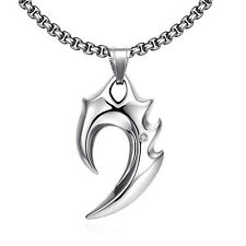 Necklace Mens Stainless Steel Titanium Chain Boys Punk Jewelry Fashion Pendant