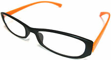 Ultras Plastic Orange Frame Reading Glasses- Lightweight,Unisex,Strong.+2.00