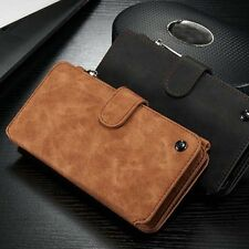 Leather Zipper Wallet Case Magnetic Card Holder Cover For iPhone 6/6S Plus SE 5s