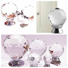 1/4Pcs Crystal Knobs Round Ball Glass Door Drawer Cabinet Wardrobe Pull Handle