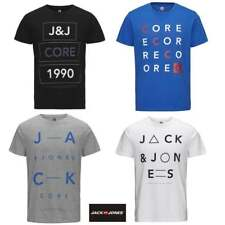 Jack & Jones Mens New Home Designer Crew Neck T-Shirt Blue Black White Grey BNWT