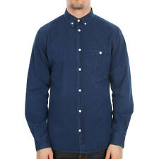 New Mens Norse Projects  Anton Denim Shirt - Indigo  Long sleeve  Button down