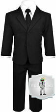 Baby Boys Black Suit and Tie with Vest Outfit Size (3-24 Months) 2T 3T 4T 5 6 7