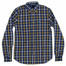 Fred Perry Herringbone Large Check Men's Long Sleeve Shirt Size-Small M6240-886