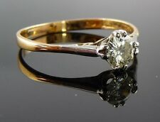 18ct Rose Gold 0.40ct Diamond Solitaire Ring 18k (750)