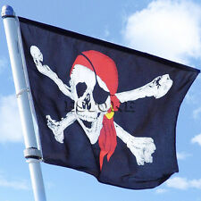 1Pcs New Large Skull Crossbones Pirate Flag Jolly Roger Hanging With Grommet
