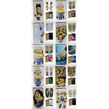 For LG Nexus 5X Stylus DAB+ G5 G4 G3 - Minions Print Flip Wallet Phone Case