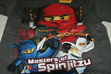 Lego Ninjago S/S T Shirt Masters Legends of Spinjitsu Jay Kai Cole Zane Gray NWT