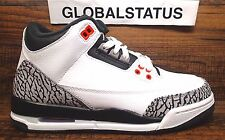 "2013 NIKE GS AIR JORDAN RETRO 3 ""CEMENT 3 INFRARED 23"" SHOES 398614 123 SZ 5Y"