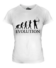 ARCHERY EVOLUTION OF MAN LADIES T-SHIRT TEE TOP GIFT BOW AND ARROW