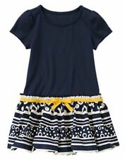 Gymboree Blue Bubble Stripes Dress Cape Cod Cutie Dress SZ 5 6 8  NEW