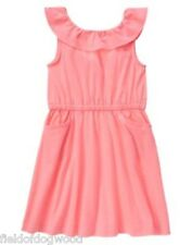 NEW Gymboree Bright and Beachy Dress Girls SZ 5 7 12 Pink Knit Dress