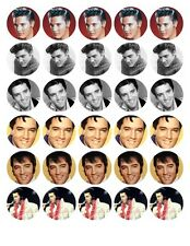 30 ELVIS PRESLEY EDIBLE WAFER/RICE/FONDANT PAPER CUP CAKE FAIRY BUN TOPPERS