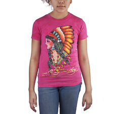 Ed Hardy Pink Toddlers Girls Short Sleeve T-Shirt