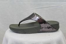 FitFlop Fit Flops Electra Sequin Pewter MSRP $80 Thongs 6 7 8 9 NEW