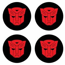 REFLECTIVE TRANSFORMERS AUTOBOT wheel center helmet motorcycle car Sticker Decal