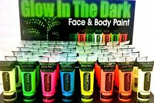 PaintGlow Glow In The Dark Face & Body Paint UV Halloween Party Rave Lot
