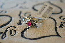 925 Sterling Silver quality CZ Ring (Ruby) Size 7, 7.5, 8 FREE POSTAGE, Nset