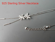 925 Sterling silver CZ womens fashion necklace (Dragonfly) Registered Post Free